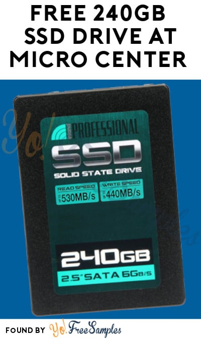 FREE 240GB SSD Drive at Micro Center (Coupon Required)