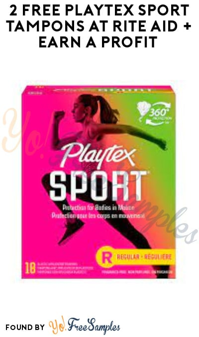 2 FREE Playtex Sport Tampons at Rite Aid + Earn A Profit (Account, Coupon & Ibotta Required)