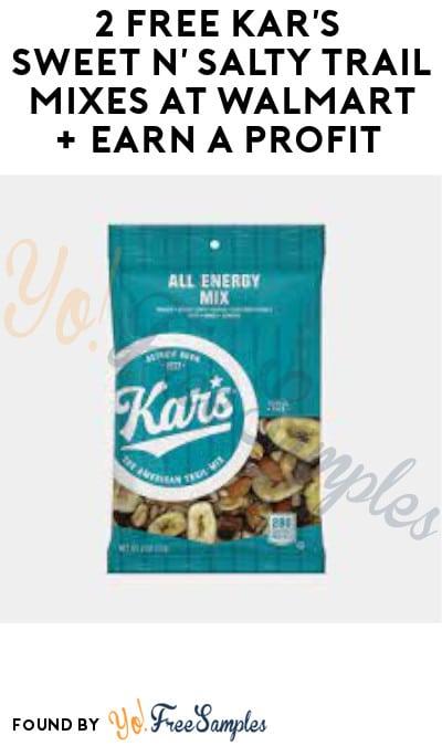 2 FREE Kar's Sweet n' Salty Trail Mixes at Walmart + Earn A Profit (Swagbucks Required)