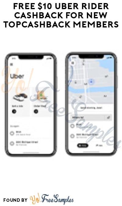 FREE $10 Uber Rider Cashback for New TopCashback Members