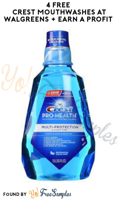 4 FREE Crest Mouthwashes at Walgreens + Earn A Profit (Rewards Card Required)