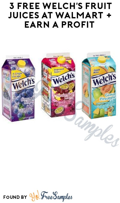 3 FREE Welch's Fruit Juices at Walmart + Earn A Profit (Shopkick & Ibotta Required)