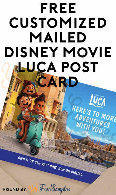 FREE Customized Mailed Disney Movie Luca Post Card