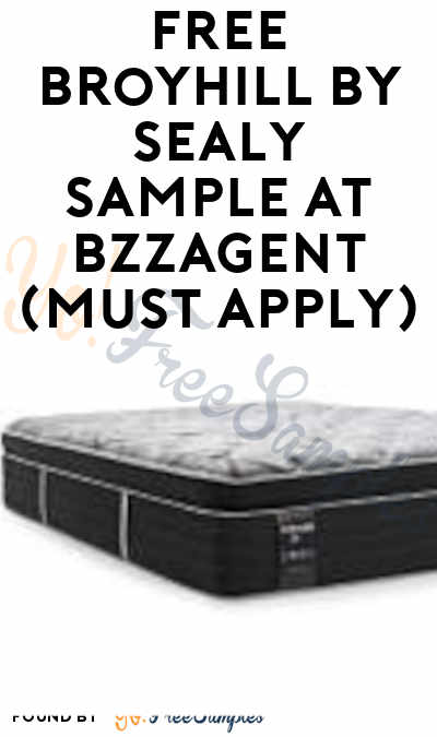 FREE Broyhill By Sealy Sample At BzzAgent (Must Apply)