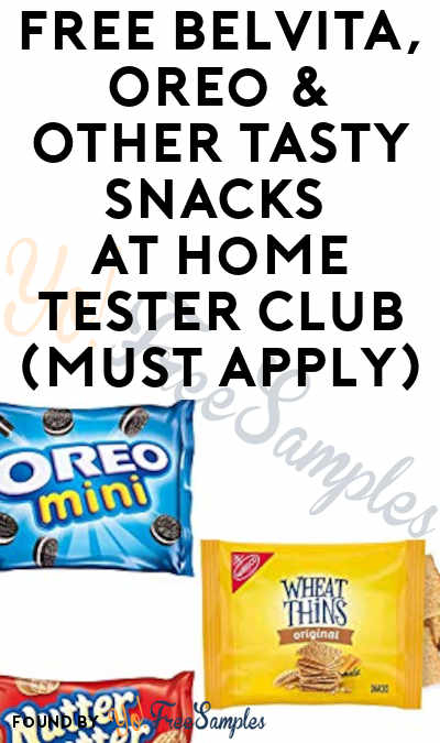 FREE BelVita, Oreo & Other Tasty Snacks At Home Tester Club (Must Apply)