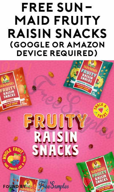 FREE Sun-Maid Fruity Raisin Snacks (Google or Amazon Device Required)