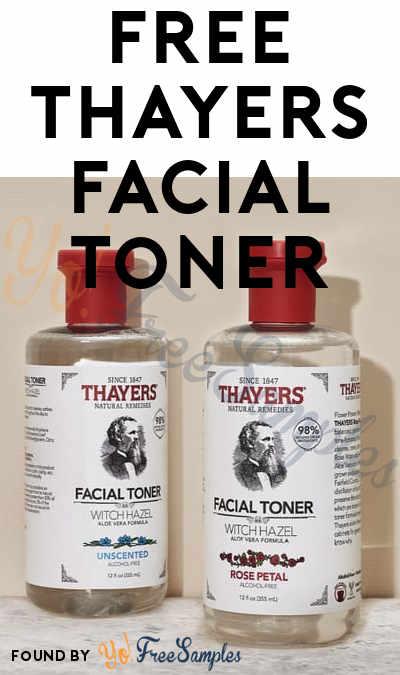 FREE Thayers Facial Toner Sample