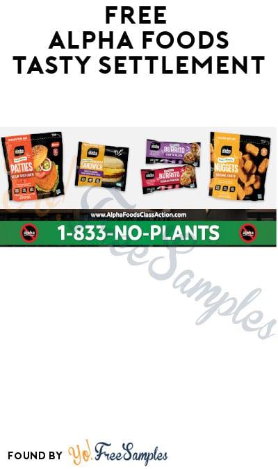 "FREE Alpha Foods ""Tasty Settlement"""