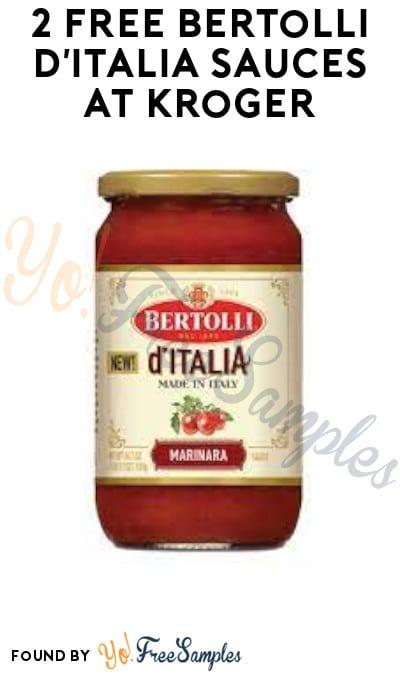 2 FREE Bertolli d'Italia Sauces at Kroger (Swagbucks Required)
