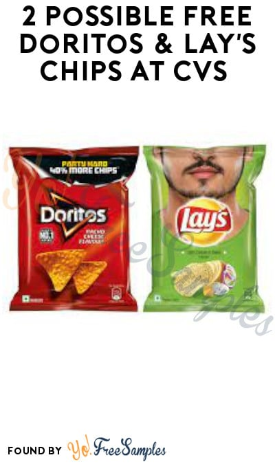 2 Possible FREE Doritos & Lay's Chips at CVS (Coupon/ App Required)