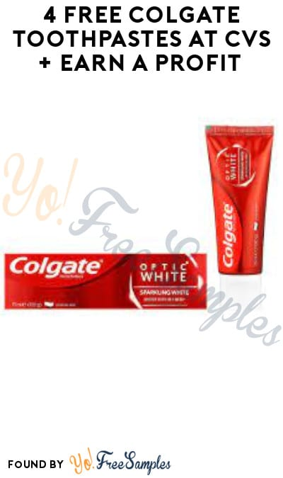 4 FREE Colgate Toothpastes at CVS + Earn A Profit (Coupon + Account/ App Required)