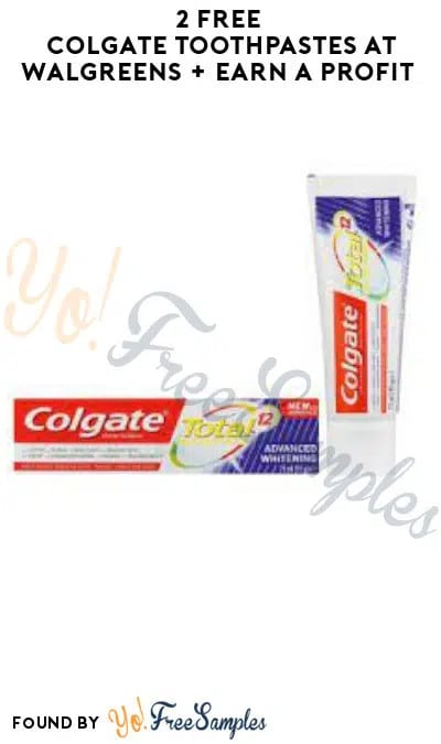2 FREE Colgate Toothpastes at Walgreens + Earn A Profit (Rewards/ Coupon Required)