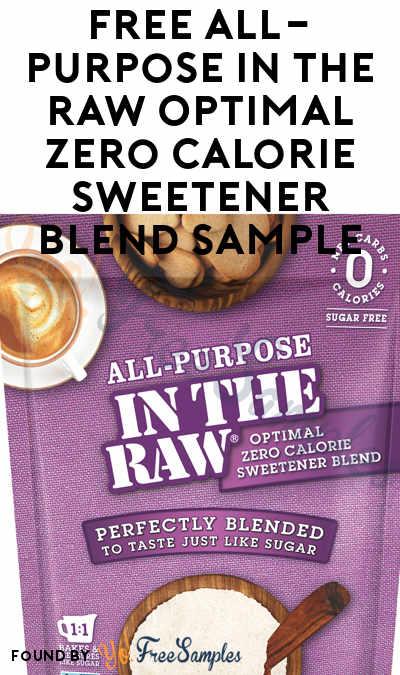FREE All-Purpose In The Raw Optimal Zero Calorie Sweetener Blend Sample