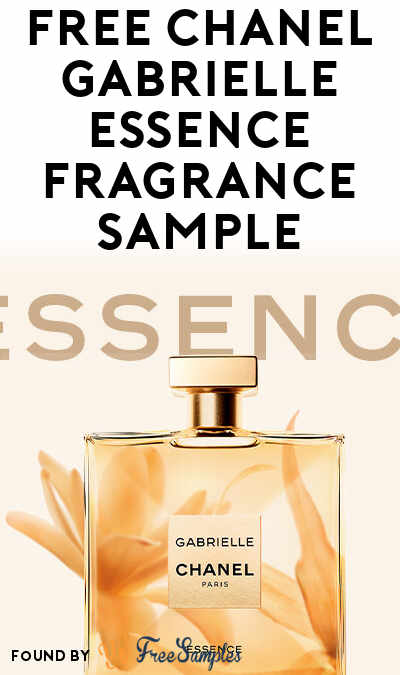 FREE Chanel Gabrielle Essence Fragrance Sample