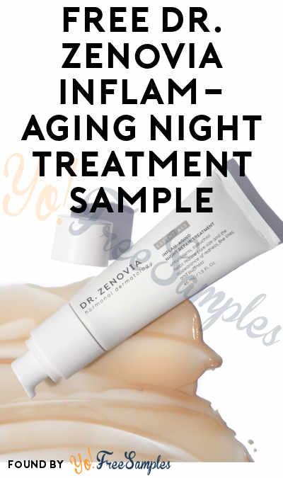 FREE Dr. Zenovia Inflam-Aging Night Treatment Sample