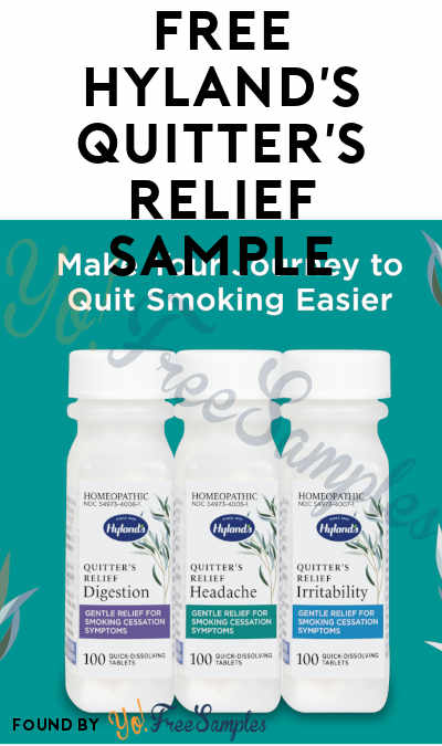 FREE Hyland's Quitter's Relief Sample