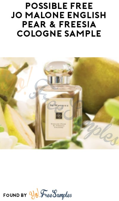 Possible FREE Jo Malone English Pear & Freesia Cologne Sample (Facebook/ Instagram Required)