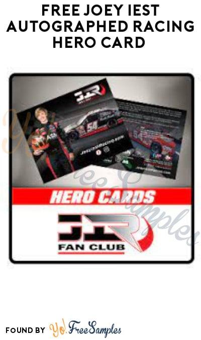FREE Joey Iest Autographed Racing Hero Card