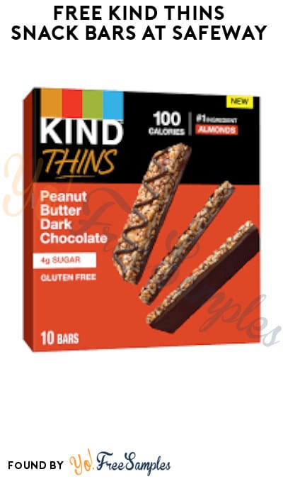 Possible FREE KIND Thins Snack Bars at Safeway (Account/ Coupon Required)