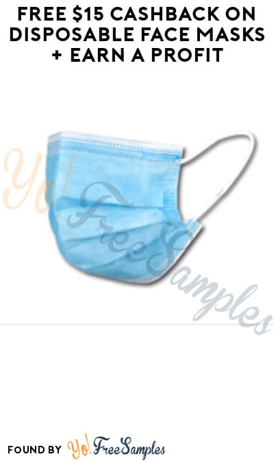 FREE $15 Cashback on Disposable Face Masks + Earn A Profit (New TopCashback Members)