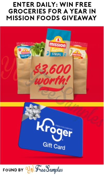 Enter Daily: Win FREE Groceries for A Year in Mission Foods Giveaway (LA & TX Only)