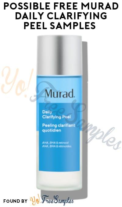 Possible FREE Murad Daily Clarifying Peel Sample (TikTok Required)