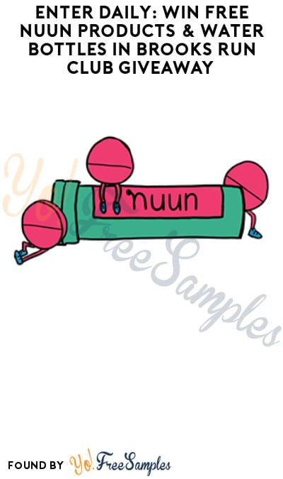 Enter Daily: Win FREE Nuun Products & Water Bottles in Brooks Run Club Giveaway