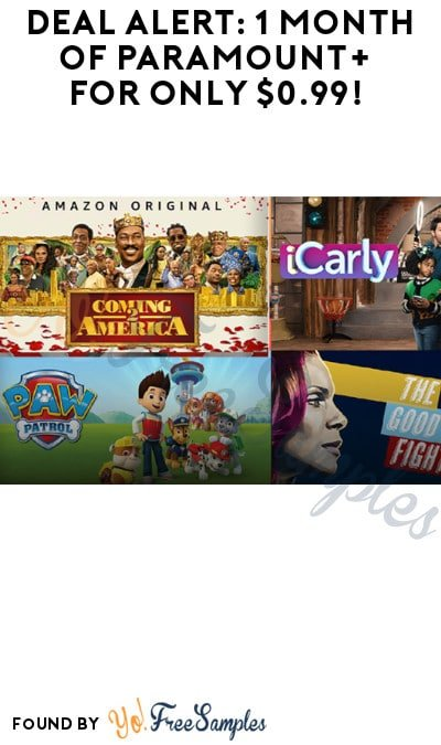 DEAL ALERT: 1 Month of Paramount+ for Only $0.99! (Prime & Credit Card Required)