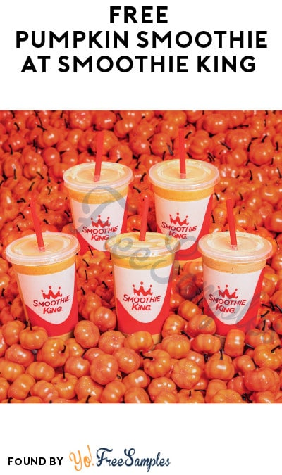 FREE Pumpkin Smoothie at Smoothie King (App Required + In-Store Only)