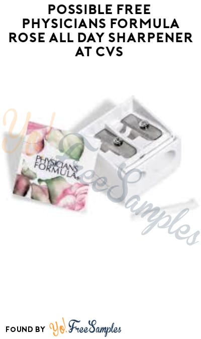 Possible FREE Physicians Formula Rose All Day Sharpener at CVS (App/ Coupon Required)