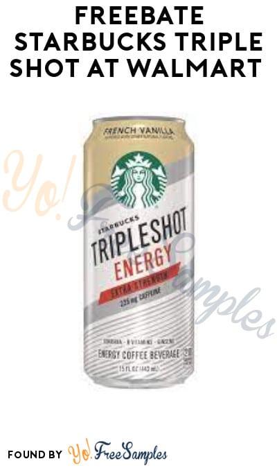 FREEBATE Starbucks Triple Shot at Walmart (Ibotta Required)