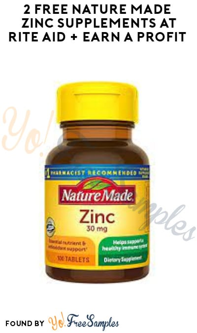 2 FREE Nature Made Zinc Supplements at Rite Aid + Earn A Profit (Account, Coupon & Ibotta Required)