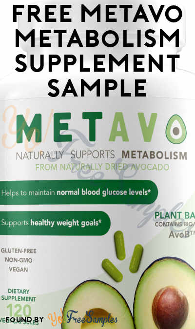 FREE Metavo Metabolism Supplement Sample