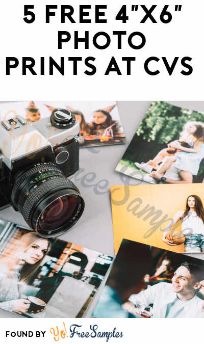 5 FREE 4″x6″ Photo Prints at CVS
