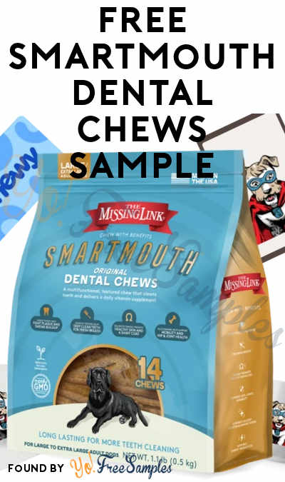 FREE Smartmouth Dog Dental Chews Sample For Entering Sweepstakes