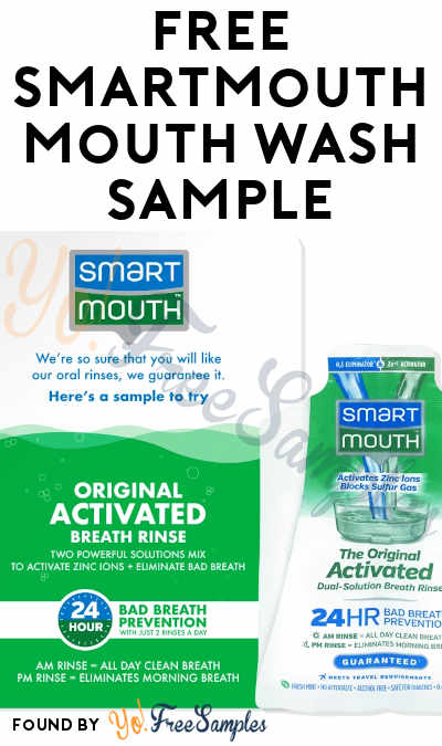 FREE SmartMouth Mouth Wash Sample