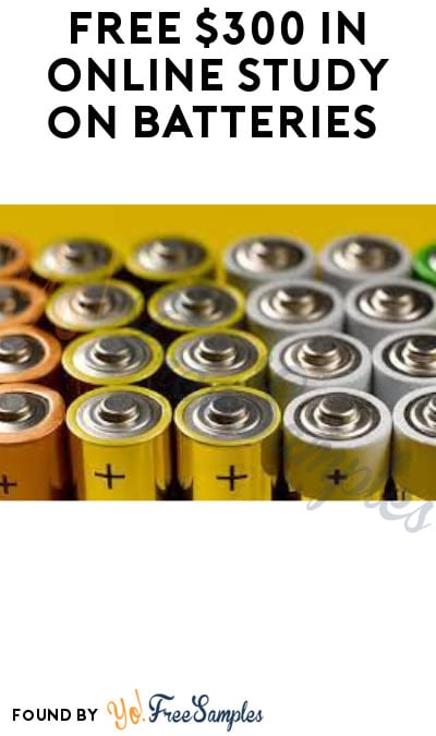 FREE $300 in Online Study on Batteries (Must Apply)