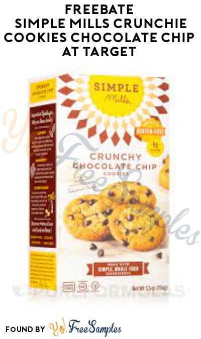 FREEBATE Simple Mills Crunchie Cookies Chocolate Chip at Target (Ibotta Required)