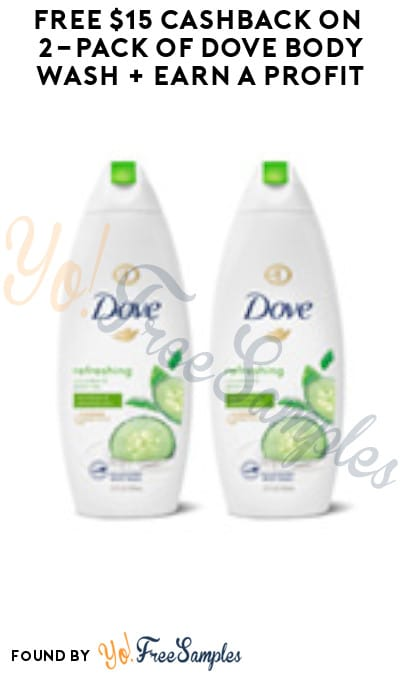 FREE $15 Cashback on 2-Pack of Dove Body Wash + Earn A Profit (New TopCashback Members)