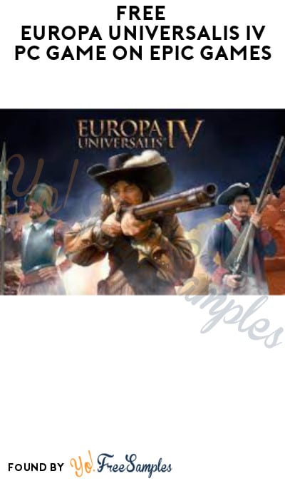 FREE Europa Universalis IV PC Game on Epic Games (Account Required)