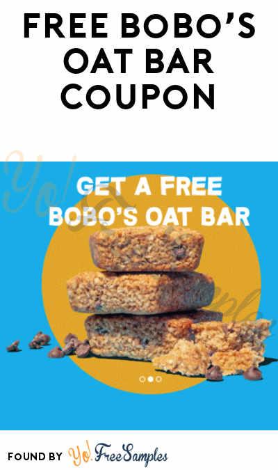 FREE Bobo's Oat Bar Coupon