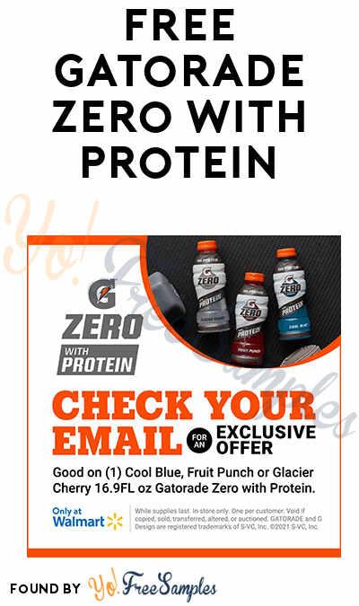 FREE Gatorade Zero With Protein At Walmart (Register For Livestream)