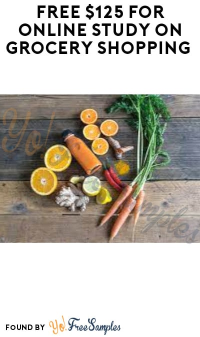 FREE $125 for Online Study on Grocery Shopping (Must Apply)
