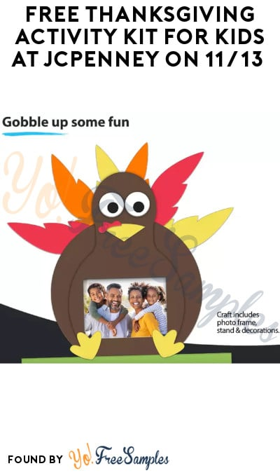 FREE Thanksgiving Activity Kit for Kids at JCPenney on 11/13