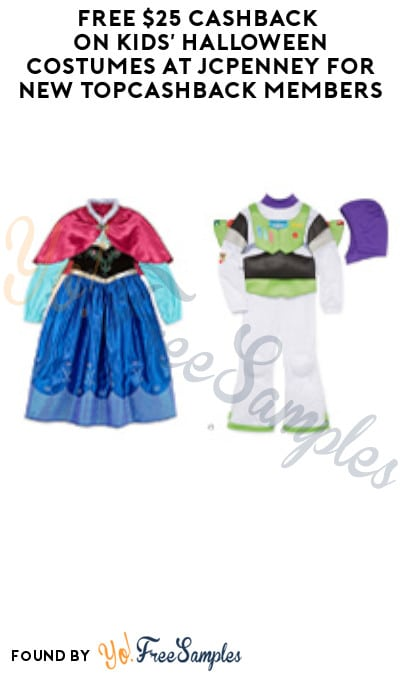 FREE $25 Cashback on Kids' Halloween Costumes at JCPenney for New TopCashback Members