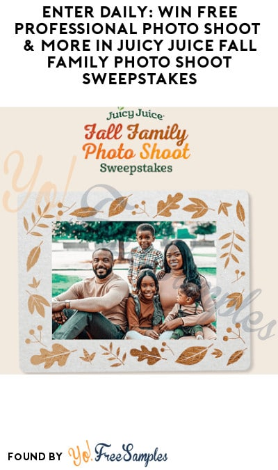 Enter Daily: Win FREE Professional Photo Shoot & More in Juicy Juice Fall Family Photo Shoot Sweepstakes