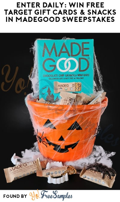 Enter Daily: Win FREE Target Gift Cards & Snacks in MadeGood Sweepstakes