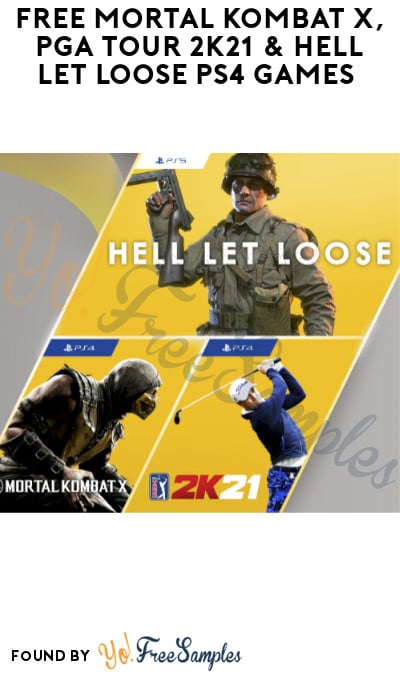 FREE Mortal Kombat X, PGA Tour 2K21 & Hell Let Loose PS4 Games (PlayStation Plus Required)