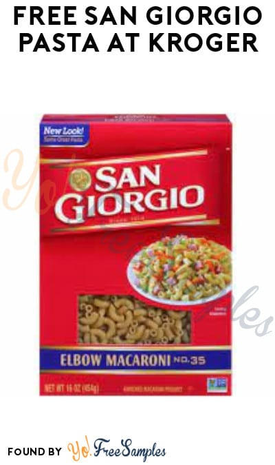 FREE San Giorgio Pasta at Kroger (Account/ Coupon Required)