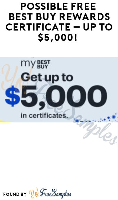 Possible FREE Best Buy Rewards Certificate – Up to $5,000! (Select Accounts)